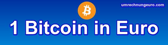 Bitcoin Umrechnen In Euro