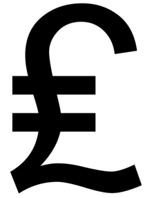 Symbol des Pfund Sterling £