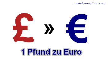 1 Pfund Sterling in Euro