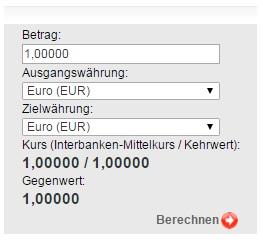 Währungsrechner Sparkasse - Währungsrechner